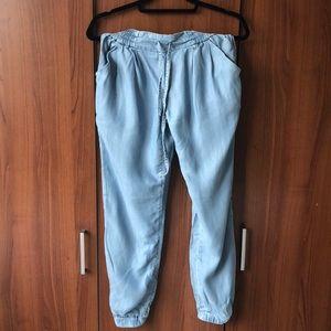 Talula Drawsting Chambray Pants